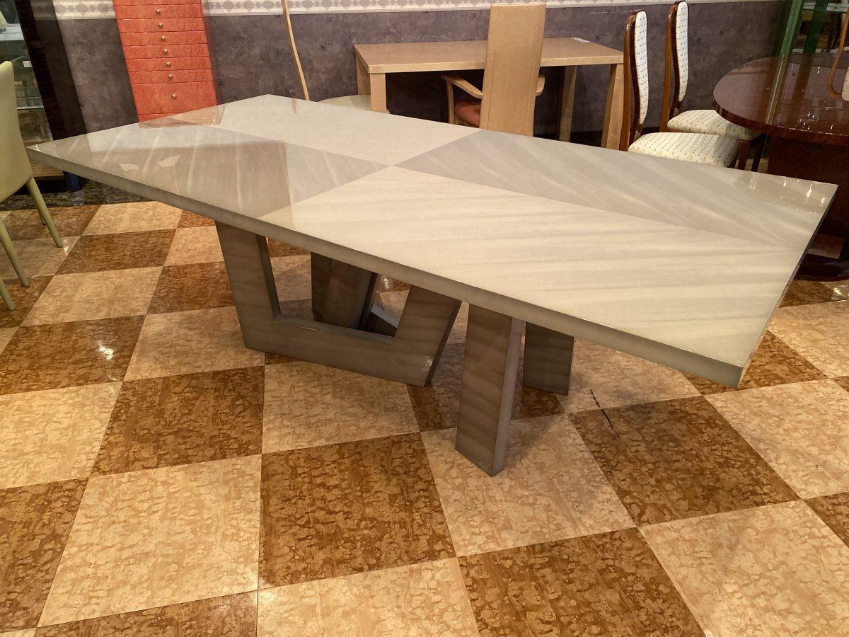 松岡家具製造・オリジナルバスウッドダイニングテーブルが完成