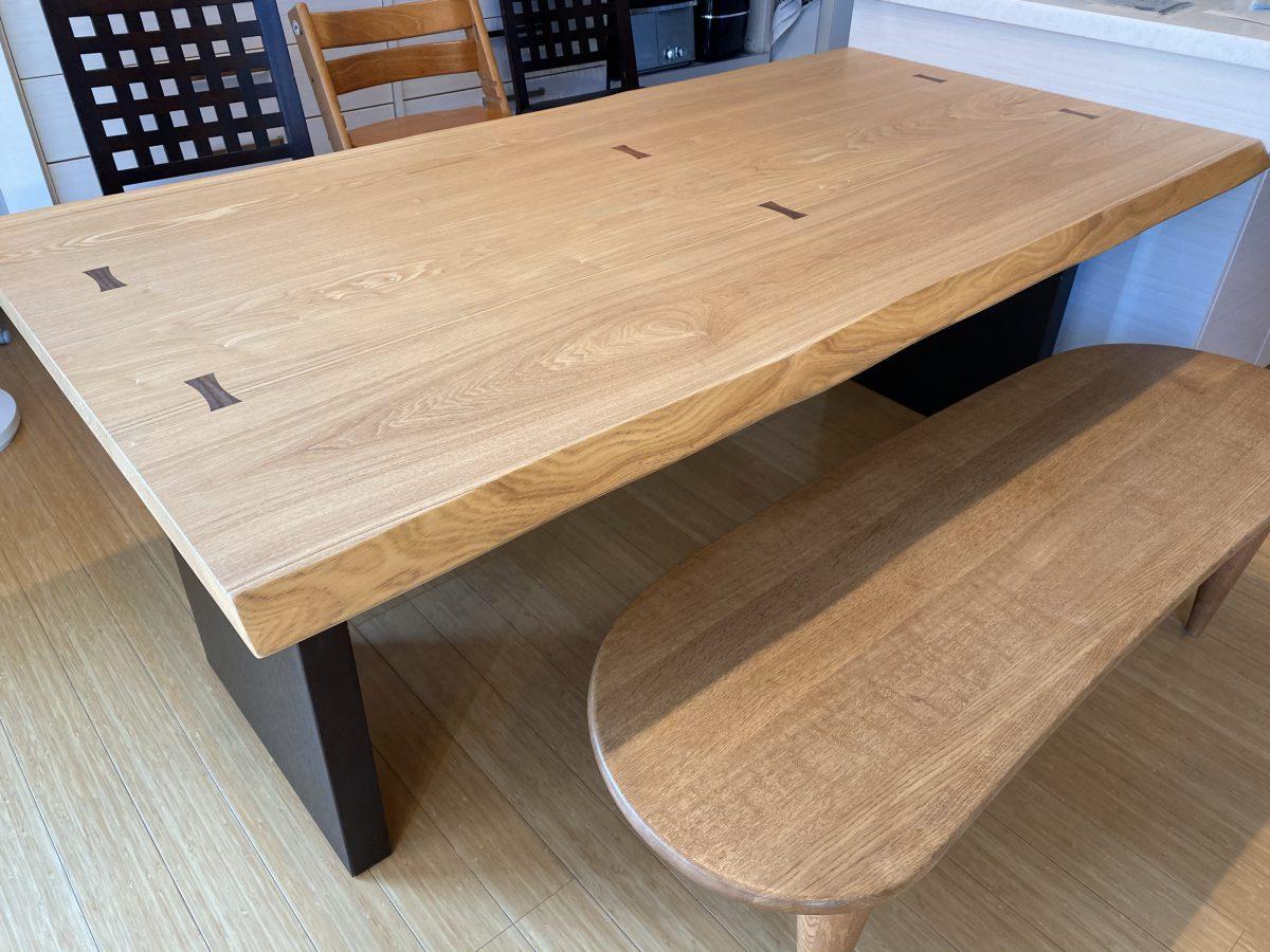 柏木工・テーブルの拭き直し完了