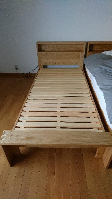 善通寺市にクワヤ・栗と檜無垢のベッド・クラウドを納品