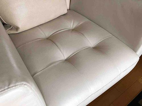 イタリア・GAMMA社のソファの座面メンテナンス完了